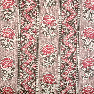 Maya Flower - Brown Jasper Fabric