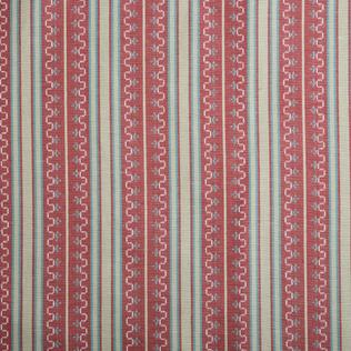 Chilcoat Stripe  Red Jasper Fabric