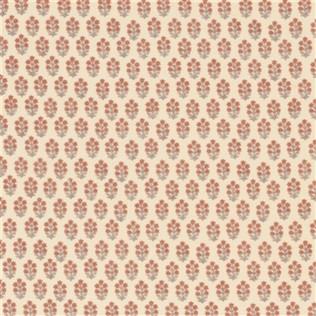 Devonshire - Coral/Turquoise Jasper Fabric