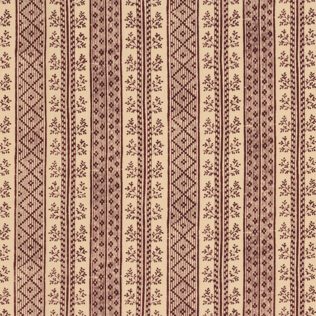 Dutch Stripe  Rust on Light Tea Stain Jasper Fabric