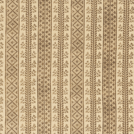 Dutch Stripe  Vison on Light Tea Stain Jasper Fabric