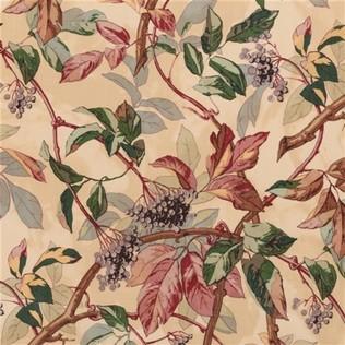 Scarlet Vine  Original Jasper Fabric
