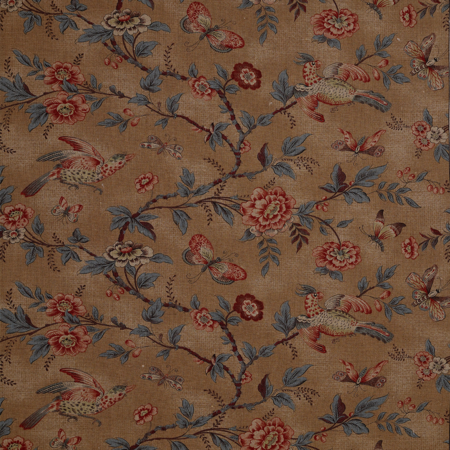 Wallace Vine Brown Jasper Fabric