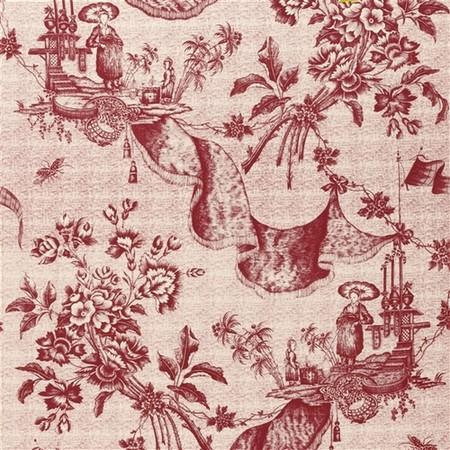 Chinese Toile  Lychee Jasper Fabric