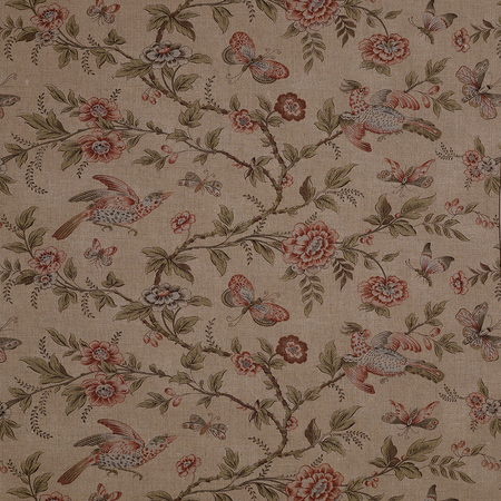 Wallace Vine - Sage/ Rose Jasper Fabric