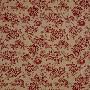 Japanese Stencil - Berry Jasper Fabric