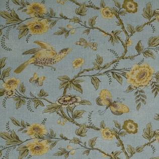Wallace Vine Blue Jasper Fabric