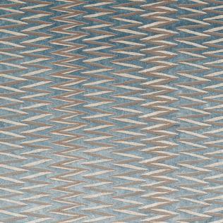 Zig Zag Stripe - Teal Jasper Fabric