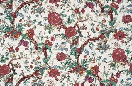 Bangalore Floral  Red Jasper Fabric