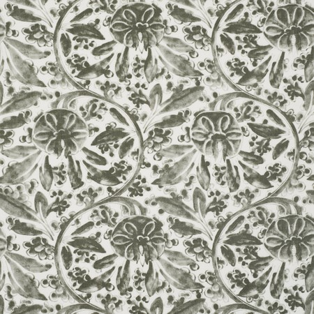 Pagoda Vine Grey Jasper Fabric