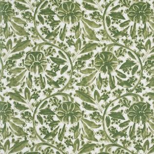 Pagoda Vine Green Jasper Fabric