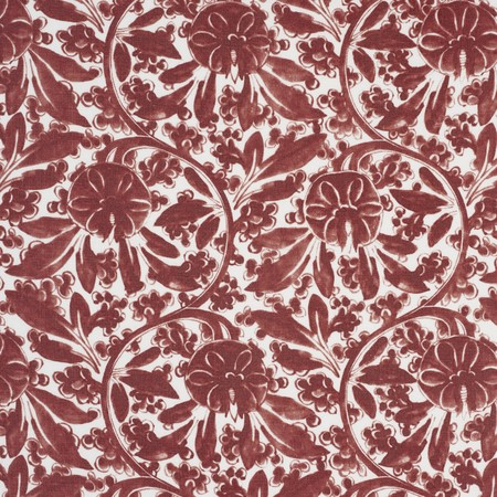 Pagoda Vine  Red Jasper Fabric