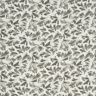 Pagoda Leaf  Grey Jasper Fabric