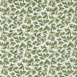 Pagoda Leaf  Green  Jasper Fabric