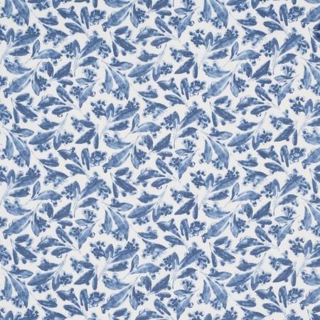 Pagoda Leaf Indigo Jasper Fabric