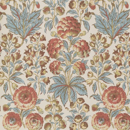 Isle Flower - Blue Coral Jasper Wallcovering