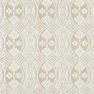 Gothic Ivory on Taupe Jasper Wallcovering