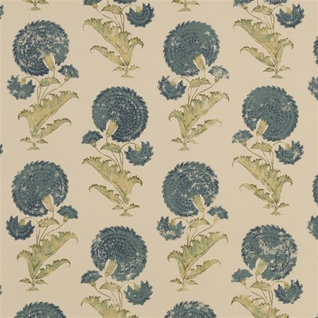 Indian Flower   Blue Jasper Wallcovering