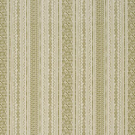 Tulum Stripe  Olive Jasper Fabric