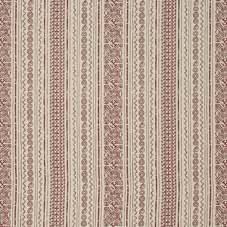 Tulum Stripe Red Jasper Fabric