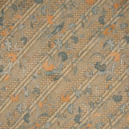 Java Stripe - Blue/Brown Jasper Fabric