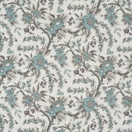 Sintra Floral  Teal Jasper Fabric