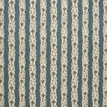 Red Oak Stripe - Blue Jasper Fabric