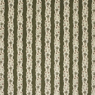 Red Oak Stripe - Green Jasper Fabric
