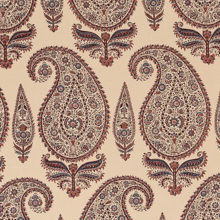 Kashimir - Coral/Blue Jasper Fabric