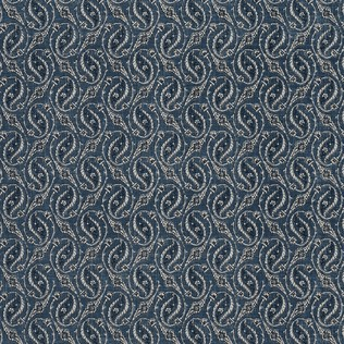 Gainsborough Paisley Indigo Jasper Fabric