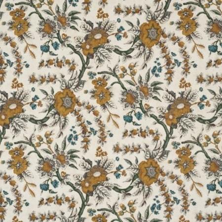Sintra Floral Saffron Jasper Fabric