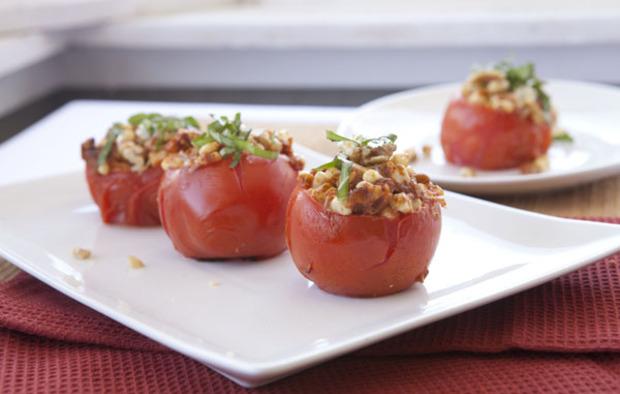 Muir Glen Stuffed Grilled Tomatoes