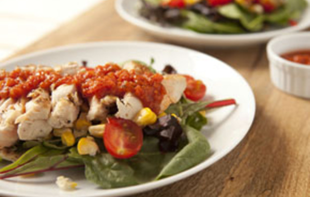 Muir Glen Grilled Chicken Salad with Tomato Vinaigrette Recipe