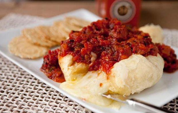 Baked Brie Recipe with Tomato Chutney