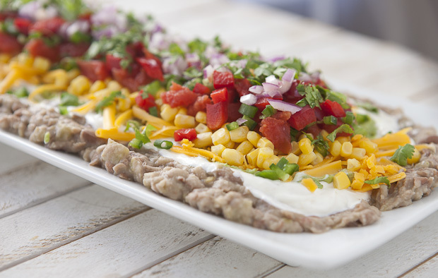 Bean and Vegetable Layered Dip