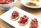 Tomato and Strawberry Salsa-Topped Bruschetta