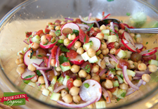 Chickpea Vegetable Salad with Indian Spices