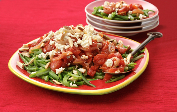 Muir Glen Green Beans with Tomatoes and Feta
