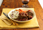 Muir Glen Beef Short Ribs with Tomato-Wine Sauce