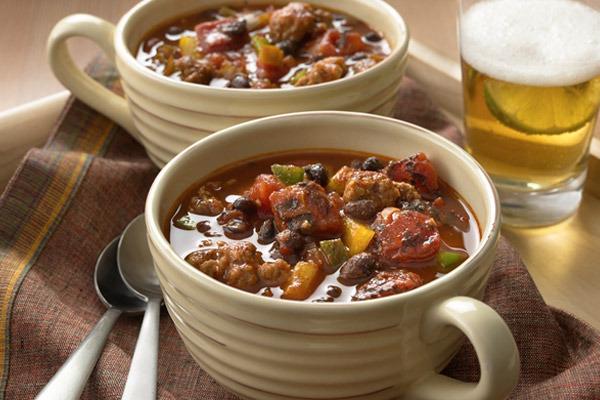 Muir Glen Organic Tomatoes Recipes Black Bean and Chorizo Chili