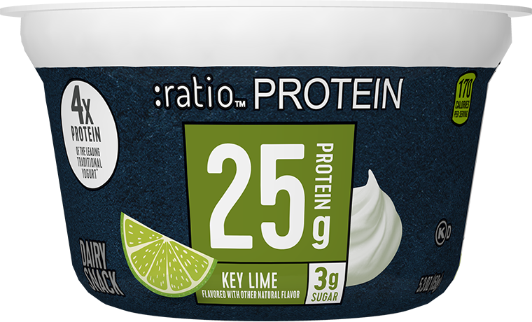 Ratio Food High Protein Snacks Key Lime Dairy Snack