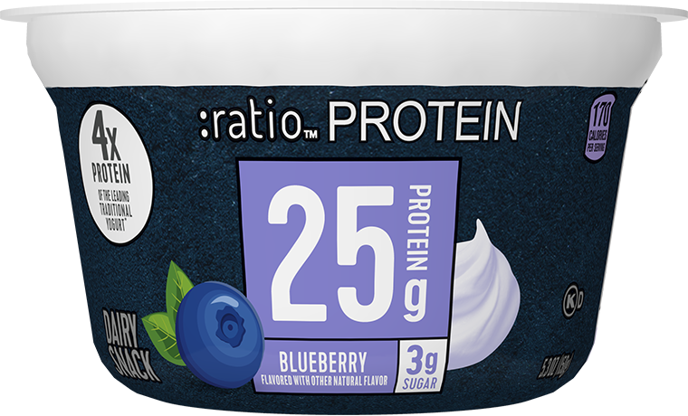 Ratio Food High Protein Snacks Blueberry Dairy Snack