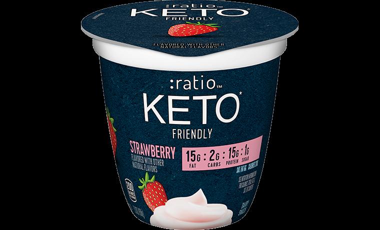 Ratio Food KETO friendly Snacks Strawberry Dairy Snack
