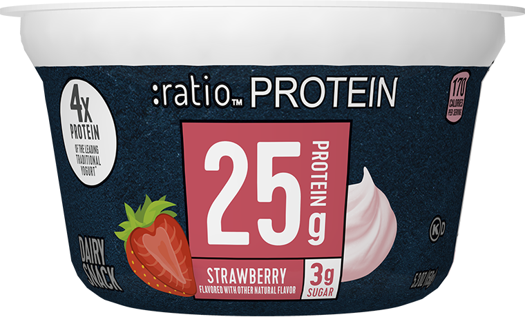 Ratio Food High Protein Snacks Strawberry Dairy Snack