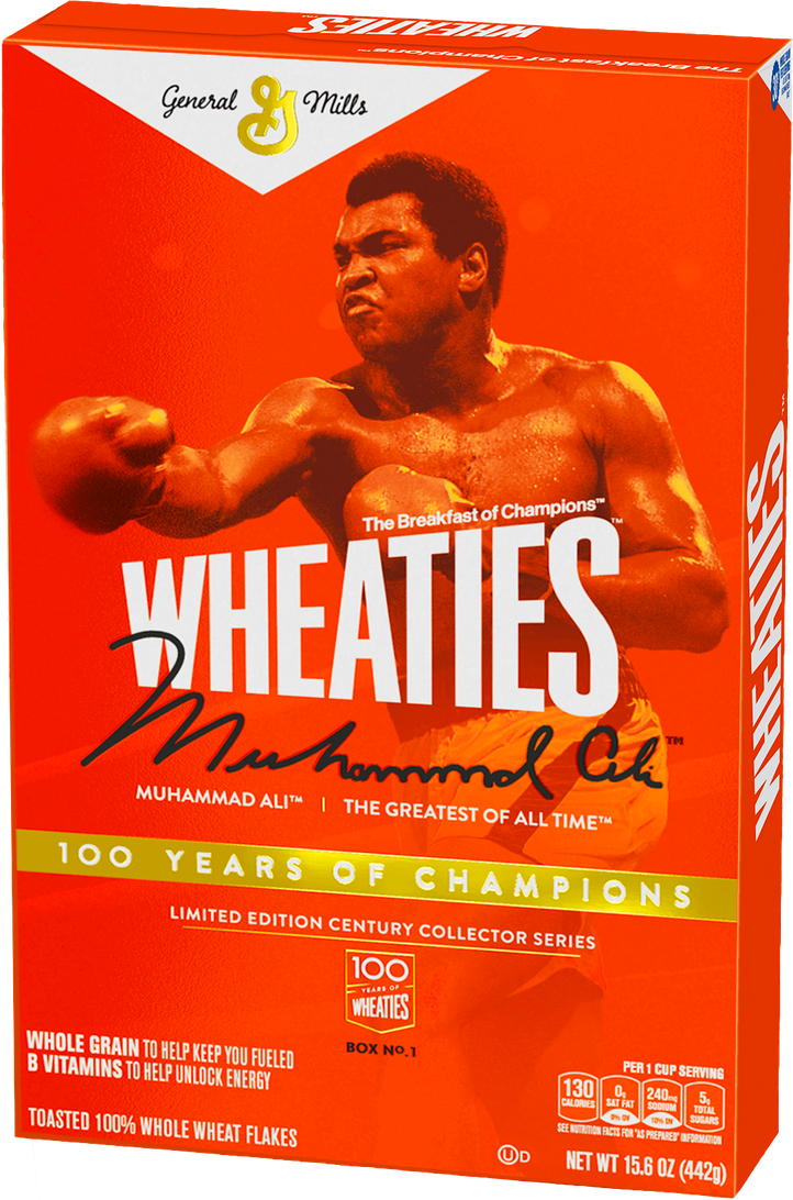 Wheaties Muhammad Ali 100 Years of Champions Limited Edition Century Collector Series
