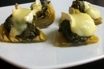 Spinachbrieartichoke low%28er%29 cal food