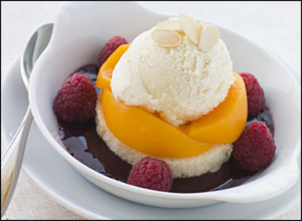 Peach melba large