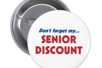 Dont forget my senior discount pinback button r84fcd2cc9c4945a3af007c5e5a0105df x7j3i 8byvr 324