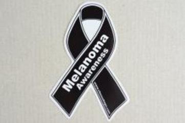 Ribbon awareness decal medium melanoma black 17523386 235 156