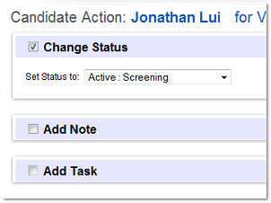 update candidate status